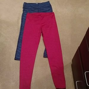 Two pairs Old Navy yoga pants size L tall